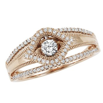 14KP Diamond ROL Ring 1/4 ctw