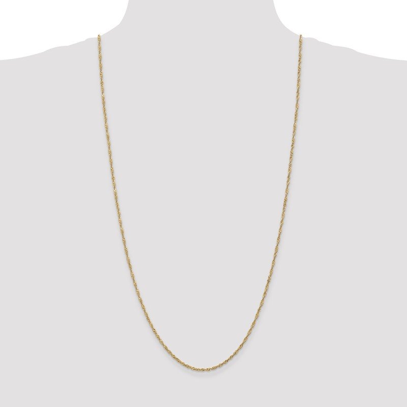 Leslie's Leslie's 1.6mm 14K Singapore Chain