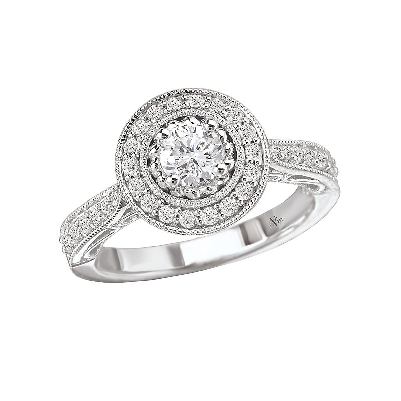 LaVie Halo Semi-Mount Ring