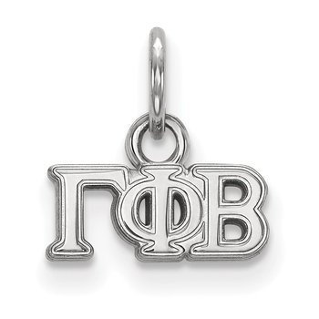 Sterling Silver Gamma Phi Beta Greek Life Pendant