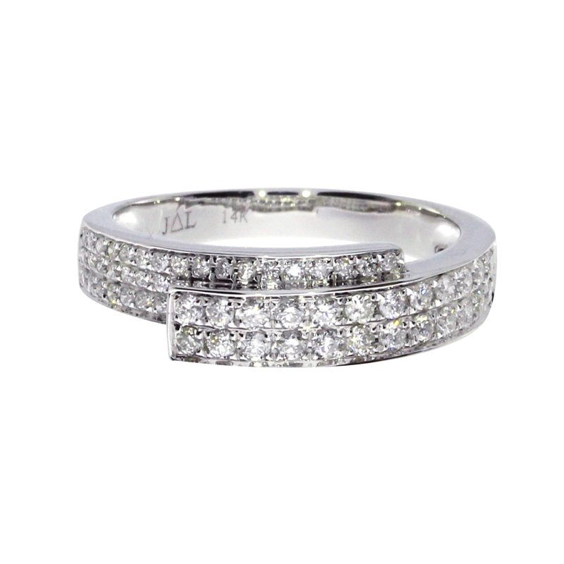 Color Merchants 14k White Gold Diamond Fashion Band
