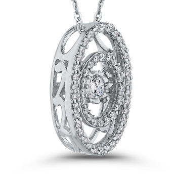 1/4 ct White Diamond Fashion Pendant with Chain