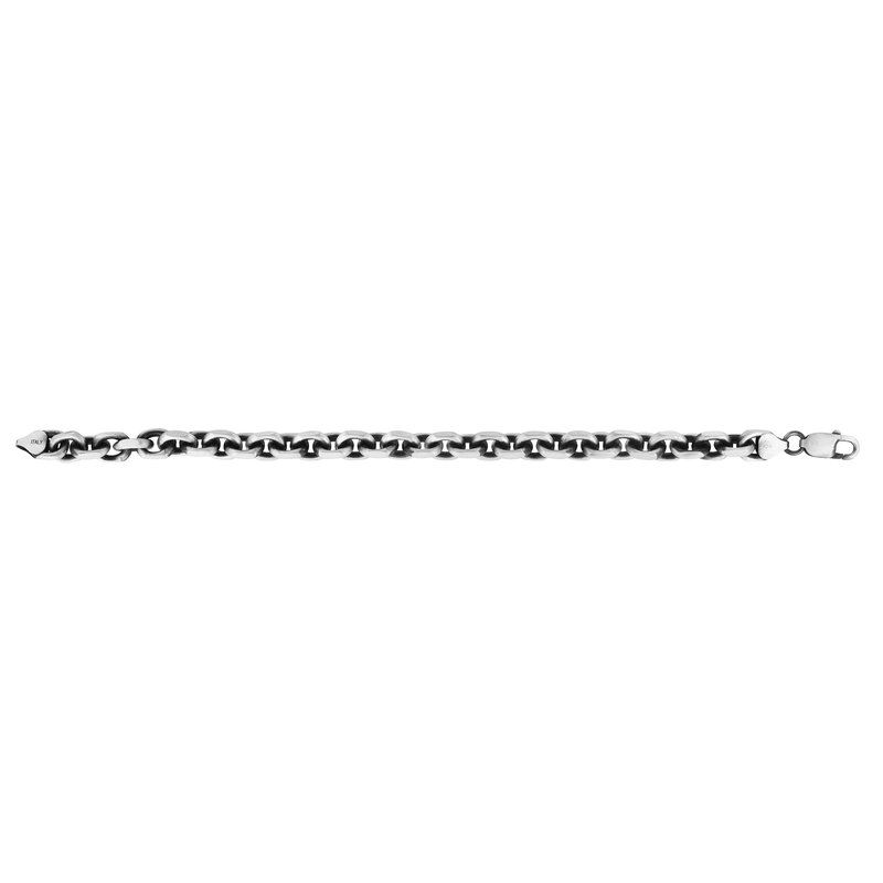 Royal Chain Silver 7.7mm Men's Gunmetal Anchor Chain Chain