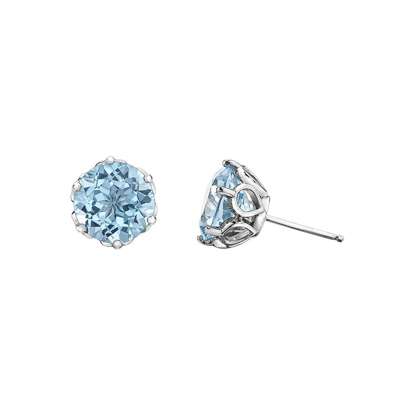 Diamond Days Sky Blue Topaz Earrings