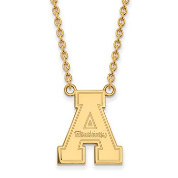 Gold Appalachian State University NCAA Necklace
