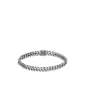 Classic Chain 7MM Curb Link Bracelet in Silver