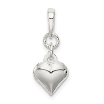 Sterling Silver Puffed Heart Pendant
