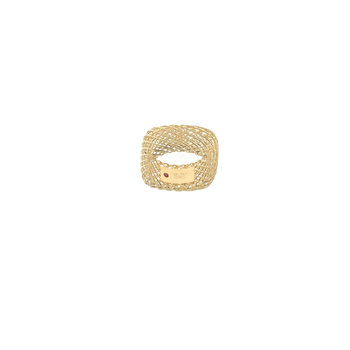 18Kt Gold Square Band