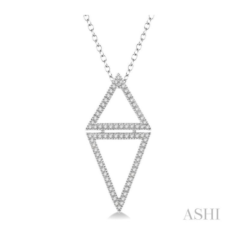 ASHI triangle diamond pendant