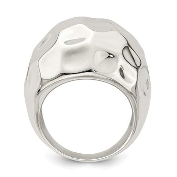 Sterling Silver Polished Textured Ring