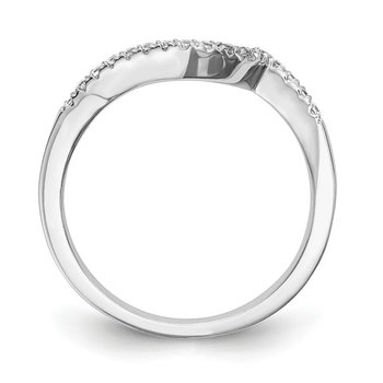 14kw True Origin Lab Grown Diamond VS/SI, D E F, Contoured Wedding Band