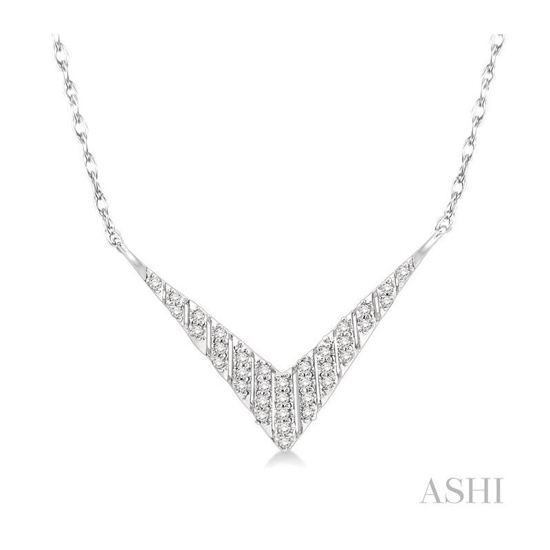 ASHI 'v' shape diamond necklace