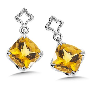 Sterling Silver Citrine Post Earrings