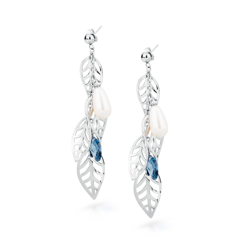 Brosway 316L stainless steel, Swarovski® Elements pearls and denim blue crystals