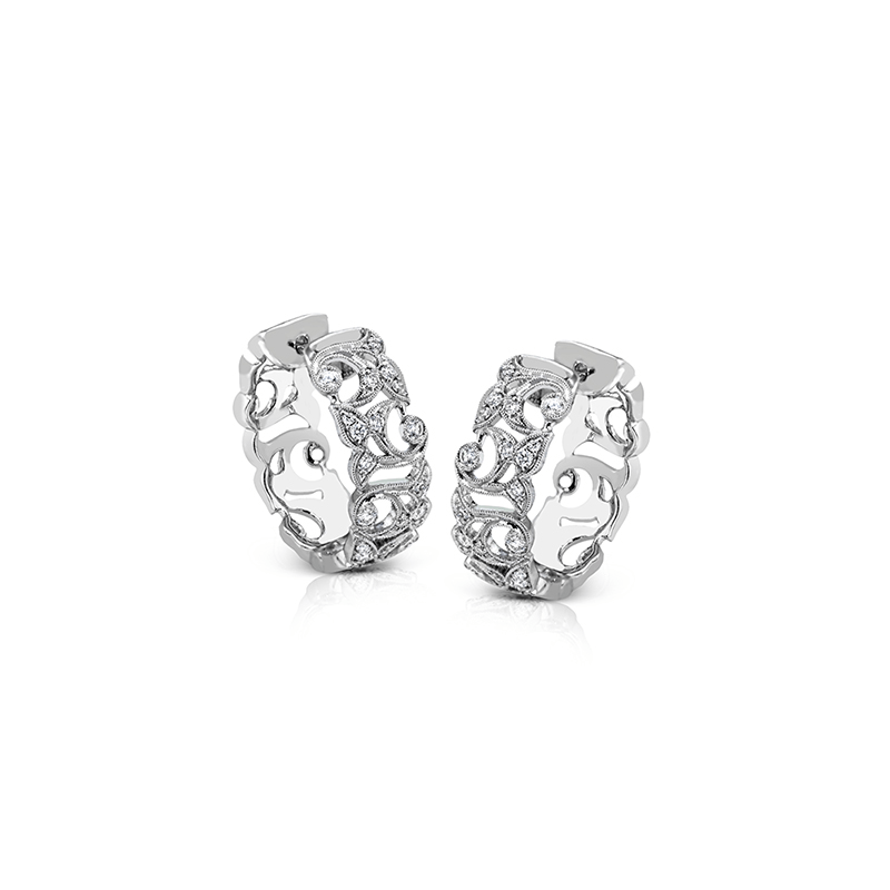 Simon G LP2281 HOOP EARRING