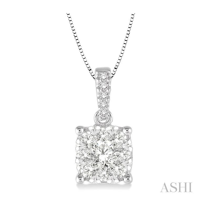 ASHI lovebright diamond pendant