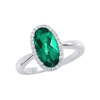 Emerald Ring-CR10423WEM