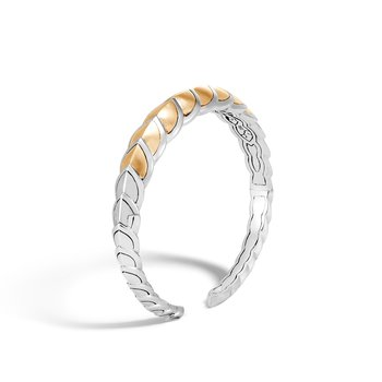 Legends Naga 11MM Cuff in Silver and Brushed 18K Gold