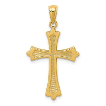 14k Budded Cross Pendant