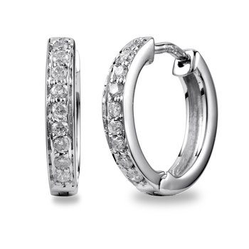 14K WHITE GOLD WITH .20CARAT DIAMONDS IN CHANNEL PRONG