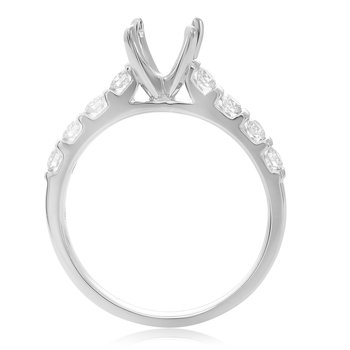 White Gold Prong Engagement Setting
