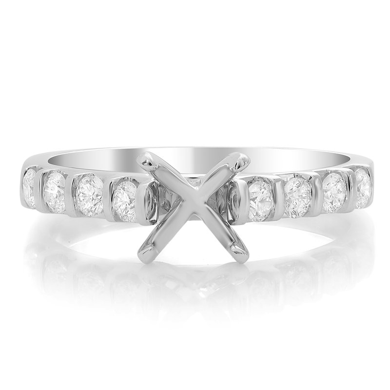 Roman & Jules White Gold Prong Engagement Setting
