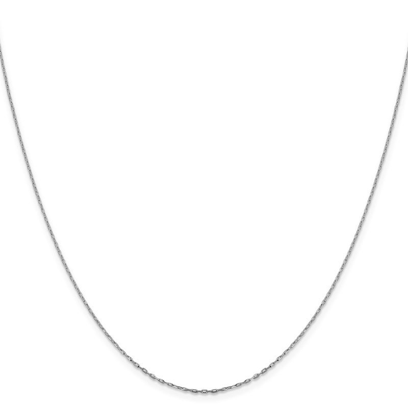 Leslie's Leslie's 14K White Gold 1mm D/C Open Long Link Cable Chain