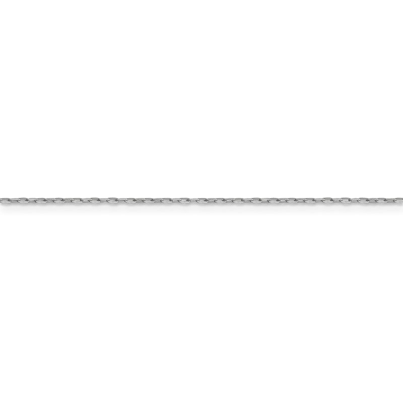 Leslie's Leslie's 14K White Gold 1 mm D/C Long Open Cable Link Chain