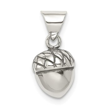 Sterling Silver Acorn Pendant
