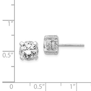 Cheryl M Sterling Silver CZ Post Earrings