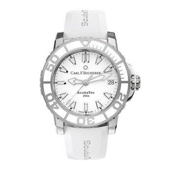 Patravi ScubaTec 37mm Stainless White Strap Womens Watch