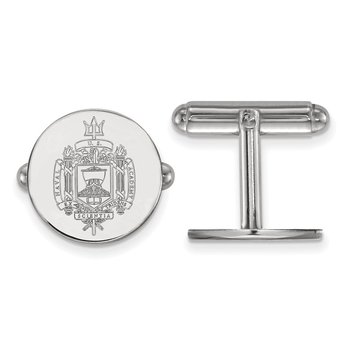 Sterling Silver United States Naval Academy NCAA Cuff Links