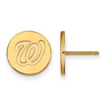 Gold-Plated Sterling Silver Washington Nationals MLB Earrings