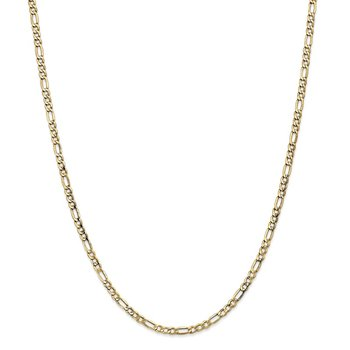 Leslie's 14k 3.5mm Semi-Solid Figaro Chain