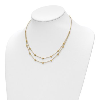Leslie's 14k Diamond-cut Beaded Necklace