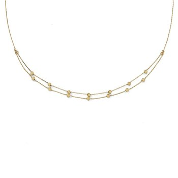 Leslie's 14K D/C Beaded Necklace