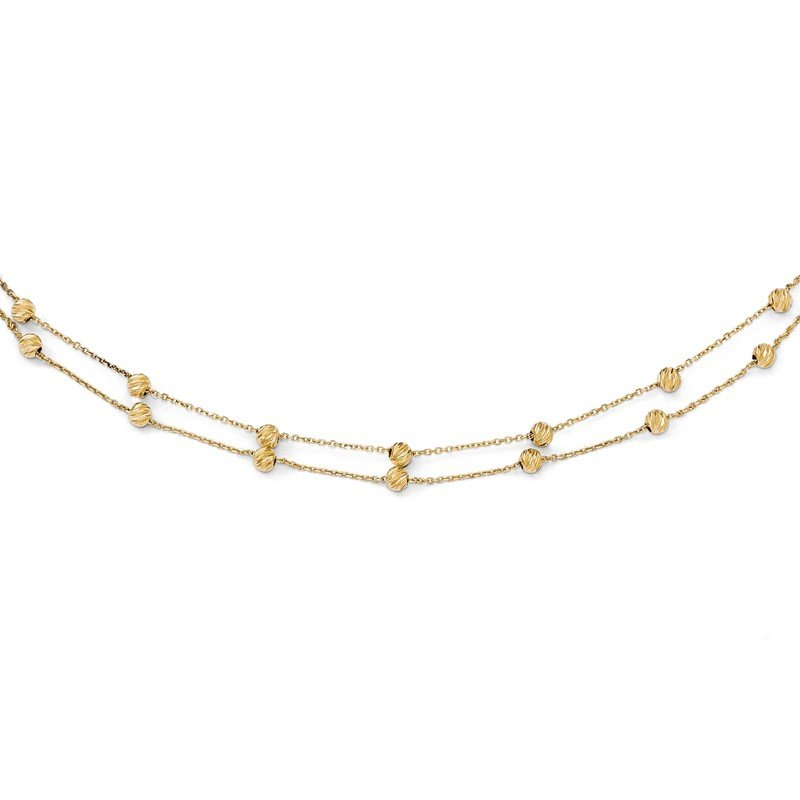 Leslie's Leslie's 14K D/C Beaded Necklace