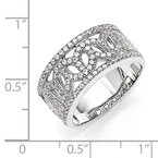 Quality Gold SS Rhodium-Plated CZ Brilliant Embers Ring