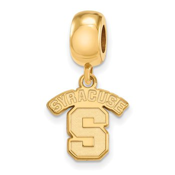 Gold-Plated Sterling Silver Syracuse University NCAA Bead