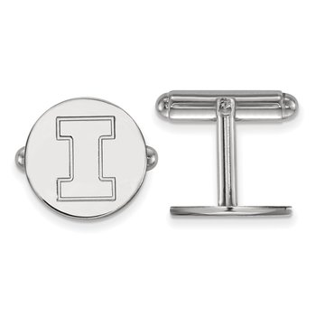 Sterling Silver University of Illinois NCAA Cuff Links