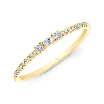 Yellow Gold Stackable Baguette Band