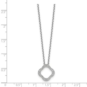 14kw True Origin Lab Grown Diamond VS/SI, D E F, Quatrefoil Floral Necklace
