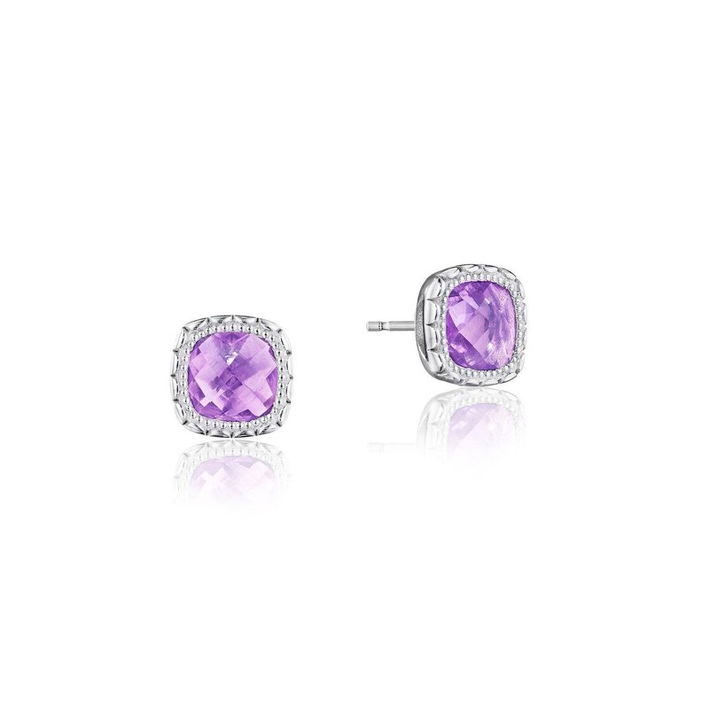 Tacori Fashion Cushion Gem Earrings with Amethyst
