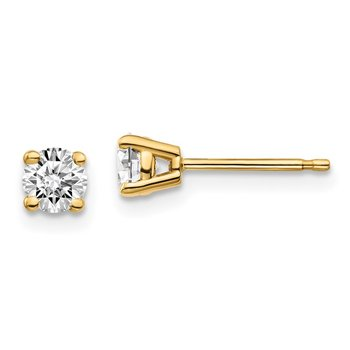 14y .10ct. I1 J-K Diamond Stud Push-on Post Earrings