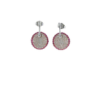 Roberto Coin 18Kt Gold Earrings With Diamonds And Pink Sapphires
