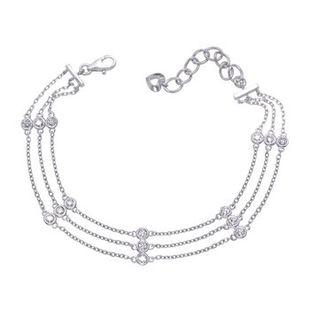 White Gold Diamond By The Yard Bracelet