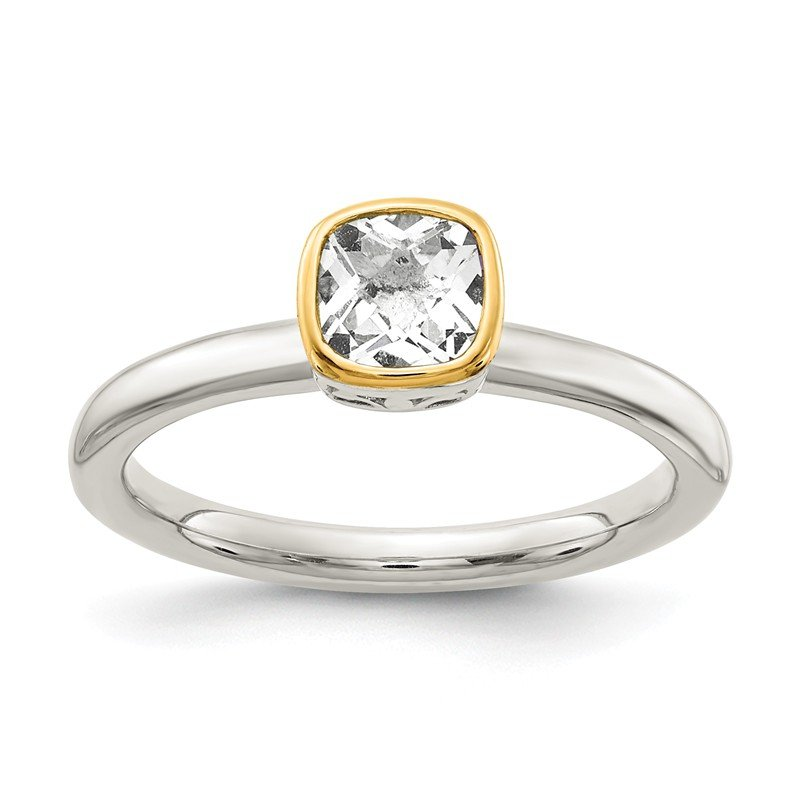 Shey Couture Sterling Silver w/ 14K Accent White Topaz Ring