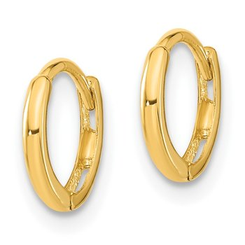 14k Madi K Polished Hinged Hoop Earrings