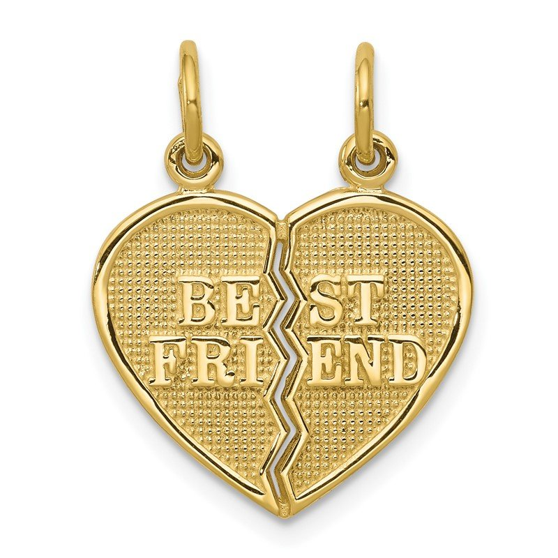 Quality Gold 10K BEST FRIEND 2 Piece Break-A-Part Charm