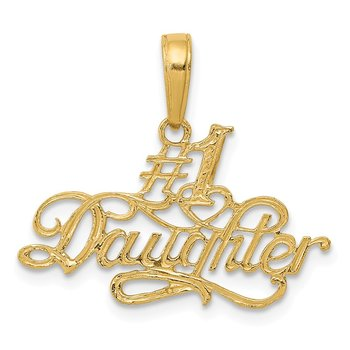 14k #1 Daughter Pendant